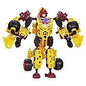 Transformers Construct Bots Beast Hunters Decepticon Dragstrip - 51 Piece