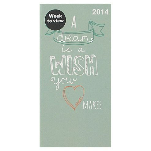 Dream Casebound 2014 Diary Slim Week to View