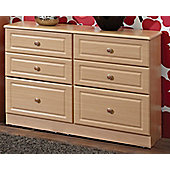 Welcome Furniture Pembroke 6 Drawer Midi Chest - Beech