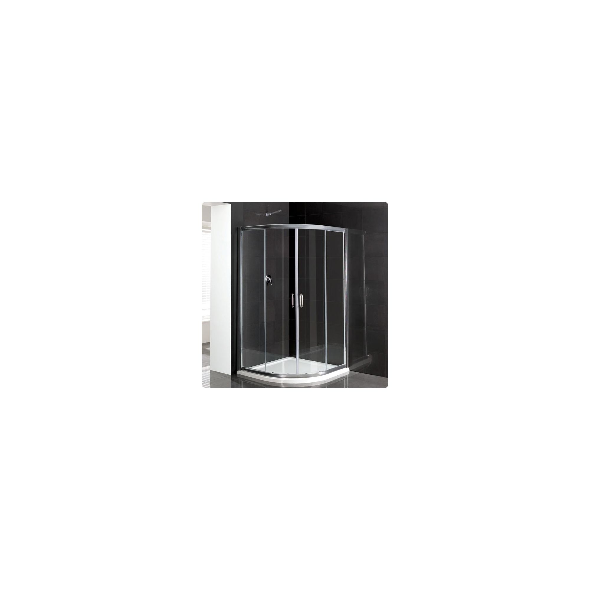 Duchy Elite Silver Quadrant Shower Enclosure 800mm, Standard Tray, 6mm Glass at Tesco Direct