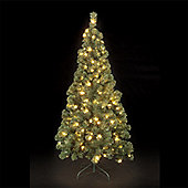 6ft Pre-Lit Spencer Pine Christmas Tree with 180 Warm White LEDs