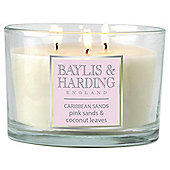 Baylis & Harding Pink Sands And Coconut Leaves Multiwick