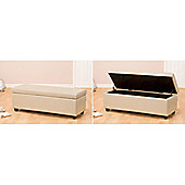 Global Furniture Direct Bench Ottoman with Storage - Brown Bonded Leather