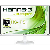 Hanns G HS246HFW 23.6 Full IPS LED LCD Monitor in White Resolution 1920 x 1080p 7ms Response Time Contrast Ratio 80000000:1 HDMI / VGA Speakers