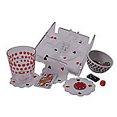 Epicurean 4 Piece Napkins and Coasters Set in Playing Card Pattern