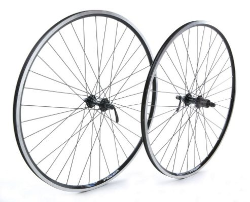 Tru-build Wheels 700C Front Wheel, Alloy Hub, Mach1 CFX Rim, 36H, Black (QR)