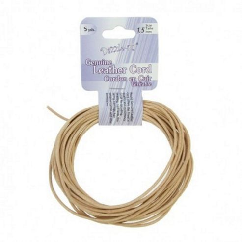 Leather Cord 1.5mm Round Natural 5yds