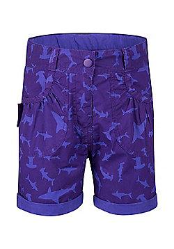 Mountain Warehouse Steve Backshall Shark Girls Short - Purple