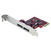 StarTech 6GBPS 2 Port PCI Express eSATA Controller Card