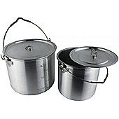Yellowstone 2 piece Can Set Silver - 6.5 & 3.5 Litre