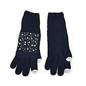 Navy Pearl Tech Touch Gloves