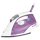 Breville VIN304 Stainless Steel Plate Steam Iron - White & Plum