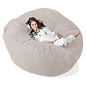 Lounge Pug™ Mega Mammoth Cord Bean Bag - Ivory