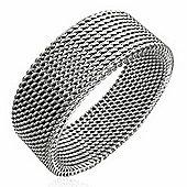 Urban Male Stainless Steel Mesh Design 8mm Ring For Men