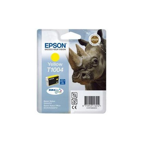Epson T1004 DURABrite Ultra Yellow Ink Cartridge for Stylus Office BX600FW/B40W (Rhino)