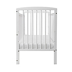 Baby Elegance Starlight Cot & Mattress - White