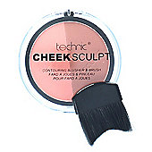 Technic Cheek Sculpt Contouring Duo Blusher & Brush-Peachy