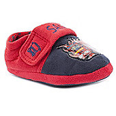 Character Boys Fireman Sam Help Navy and Red Slippers - Navy