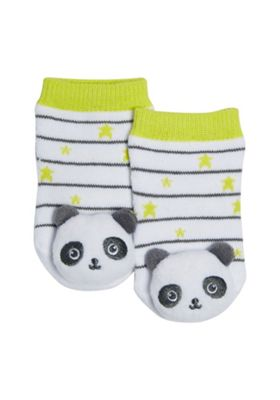 Buy F&F Panda Rattle Socks from our Kids' Socks range - Tesco