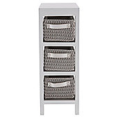 Tesco 3 Drawer Caddy, Grey