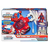 Marvel Super Hero Adventures Web Strike Tank With Spiderman