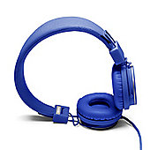 Plattan Classic On-Ear Headphone with Built-In Microphone in Cobalt