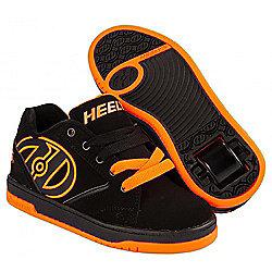 Heelys Propel 2.0 Black/Orange Kids Heely Shoe - UK 6