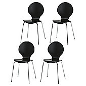 Bistro Set Of 4 Chairs, Black