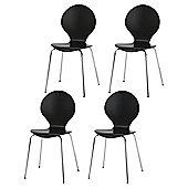 Bistro Set Of 4 Chairs, Black