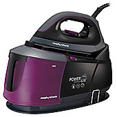 Morphy Richards 332005 Steam Generator Iron - Black & Mulberry