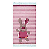 Esprit 3 Happy Friends Stripes Light Pink Tufted Rug - 90 cm x 160 cm (2 ft 11.5 in x 5 ft 3 in)