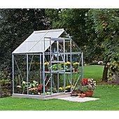 Halls 6x4 Popular Aluminium Greenhouse - Horticultural Glass