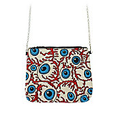 Eyeballs & Nerves Canvas Clutch Women's Shoulder Bag 22.5x19cm