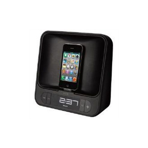 TDK TAC4525 Dual Charging Alarm Clock (Black) for iPod/iPhone