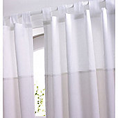 Izziwotnot White Gift Tab Top Curtains