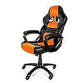 Arozzi Monza Gaming Chair Orange High quality Thick padding on the arm wrists MONZA-OR