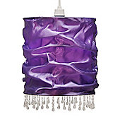 Amelia Beaded Fabric Ceiling Light Shade in Purple