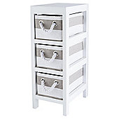 Tesco Grey And White Stripe Caddy