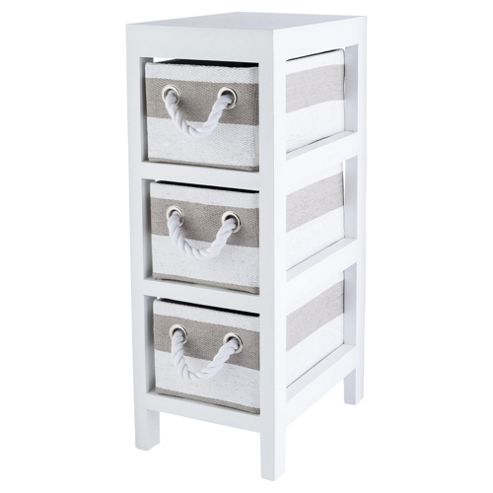 Buy tesco grey and white stripe caddy from our bathroom for Bathroom cabinets tesco