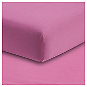 Tesco Bright Pink Fitted Sheet, Single