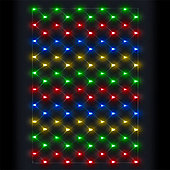 4ft x 4ft Outdoor & Indoor Net Lights - 100 Multi-Colour LEDs