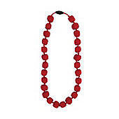 Jellystone Junior Princess -Pea Teething Necklace in Scarlet Red