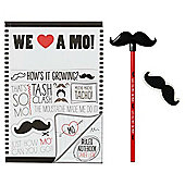 Moustache Stationery Set