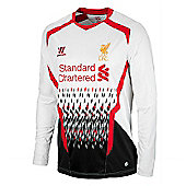 2013-14 Liverpool Away Long Sleeve Shirt (Kids) - White