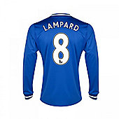 2013-14 Chelsea Home Long Sleeve Shirt (Lampard 8) - Blue