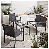Charcoal Garden Lounge Set, 4 piece