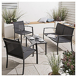 Charcoal Garden Lounge Set, 4 piece