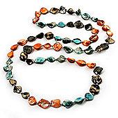 Long Multicoloured Shell Necklace -134cm Length