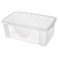 Plastic Shoe Storage Box - 9.6L - Clear