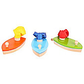 Bigjigs Toys BJ973 Balloon Powered Boat (One Supplied - Colours Vary)